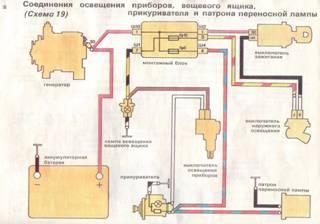 Схема подключения часов и прикуривателя на ваз 2107